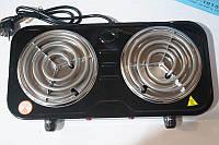 Электроплита 2 комфорки спираль Domotec DT-1015 2000w