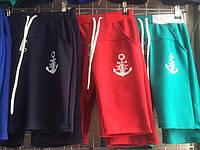 Детские шорты бриджи на мальчика Якорь 8-12л.