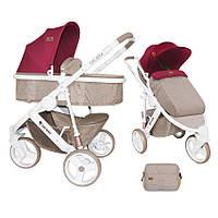 Детская универсальная коляска-трансформер CALIBRA 3 BEIGE&RED ТМ Lorelli (Bertoni) 10020781742