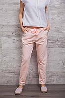 Молодёжные трикотажные женские штаны светло-розового цвета, размер S
