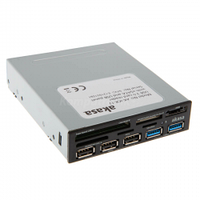 Akasa AK-ICR-17 USB 3.0 5-portowy czytnik kart pamieci 3,5&quot - czarny
