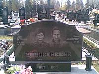 Памятник гранитный на двоих Фигурный
