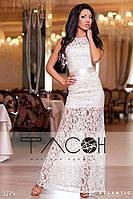 Изумительное платье с гепюра и атласа 42 44 46