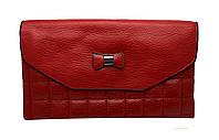 Клатч женский 510M красный из искусственной кожи