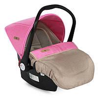 Детское автокресло-переноска LIFESAVER BEIGE&ROSE 0-13 кг (от 0 до 1 года) ТМ Lorelli/Bertoni 10070301746