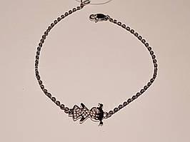 Срібний браслет Дівчинка з фіанітами. Артикул 905-00817 17