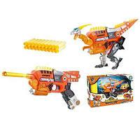 Динобот-трансформер - ВЕЛОЦИРАПТОР для детей от 6 лет (30 см, бластер, мишень, 20 стрел) ТМ Dinobots SB378
