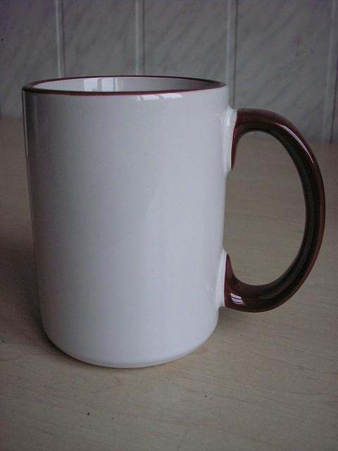 Чашки с цветной каемкой 425 мл