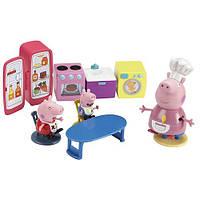 Игровой набор Peppa - КУХНЯ ПЕППЫ для детей от 3 лет (кухонная мебель и техника, 3 фигурки) ТМ Peppa 15560