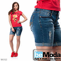 Модные женские шорты New Jeans синие