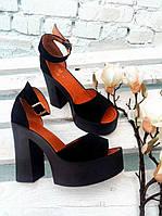 Туфли из натуральной кожи/замши