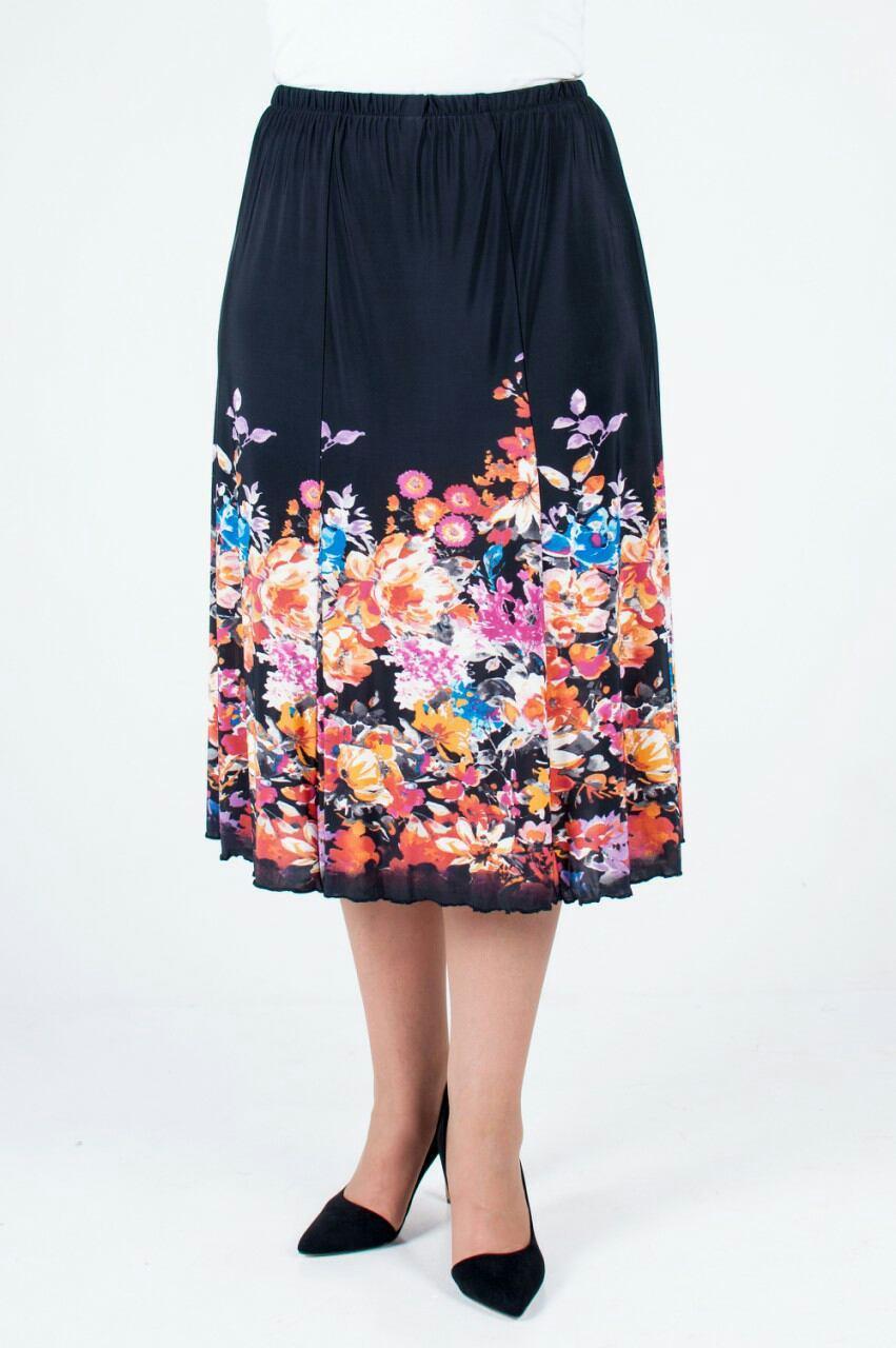 160aaf6013c Летняя женская юбка годе с цветочным узором из ткани масло