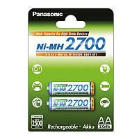 Аккумуляторы АА Panasonic AA / HR06 NI-MH 2700 mAh (BK-3HGAE / 2BE)