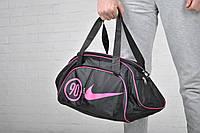 Сумка Nike 90 черная розовый лого