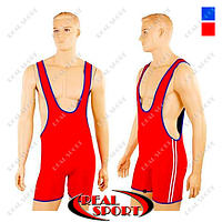 Трико для борьбы и тяжелой атлетики двухстороннее CO-3043 (красный-синий, р-р S-XL)