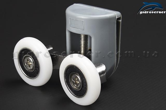Ролики для душевой кабины, гидромассажного бокса B-43С верхний, двойной с диаметром колесиков от 19 мм до 28 мм.