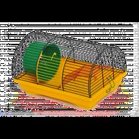 """Клетка """"БУНГАЛО-1"""" для малых грызунов с барабаном, 33х23х20 см, цинк"""