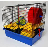 """Клетка """"Вилла Люкс-3""""для грызунов, 33х22х32 см, цинк"""