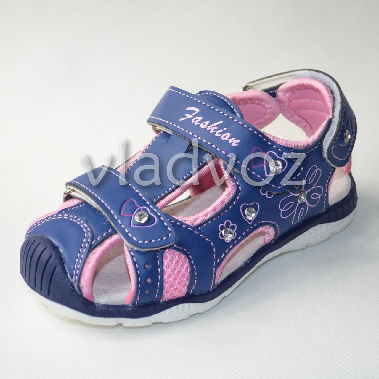 Детские босоножки сандалии для девочки на девочек синие Tom.m 26р.