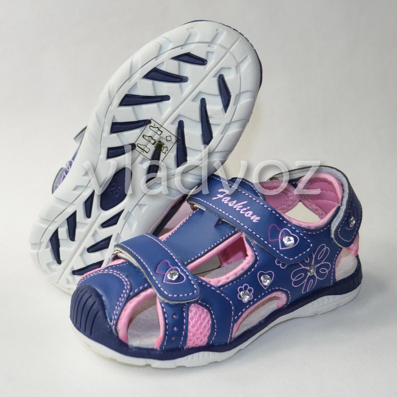 Фото босоножек сандалии для девочки на девочек синие Tom.m