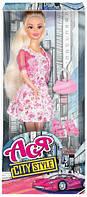 Городской стиль, набор с куклой 28 см, блондинка в розовом платье, Ася (35070)