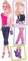 Модный микс, набор с куклой 28см., блондинка в джинсах, Ася (35078)