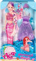 Тайна русалки, набор с куклой 28 см, блондинка (лиловый наряд), Ася (35077)
