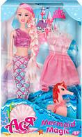 Тайна русалки, набор с куклой 28 см, блондинка (розовый наряд), Ася (35071)