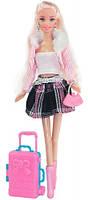Путешествие, набор с куклой 28 см., блондинка в розовой кофте, Ася (35088)