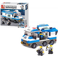 Конструктор SLUBAN M38-B0188 полиция, машина, фигурки 3шт, 253 дет, в кор-ке, 28,5-28,5-5см (BOC068611)