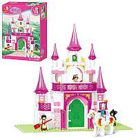 Конструктор SLUBAN M38-B0153 замок принцессы, фигурки, 271дет, в кор-ке,28,5-42,5-6,5см (BOC070297)