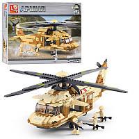 Конструктор SLUBAN M38-B0509 Армия,вертолет военный,439дет,фигурки,в кор-ке, 42,5-33-6,5см (BOC069919)