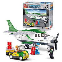Конструктор SLUBAN M38-B0362 Авиация, самолет,машинка,фигурки,251дет,в кор-ке,28,5-28,5-5,5см (BOC067976)