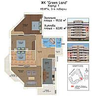 4-кімнатна квартира 100 кв.м., фото 1