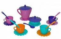 Ромашка, набор посуды 19 предметов, (розовый чайник). Тигрес (39091-2)