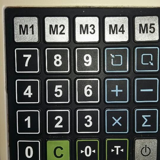 Килимок клавіатури ваг CAS ER