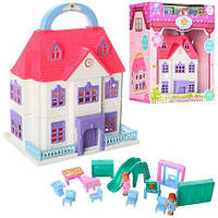 Игровой домик для девочек, с мебелью (8050)