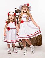 Платье летнее cарафан на девочку Хлопок Размеры 104 -122