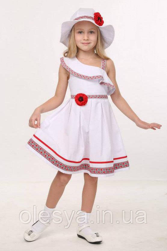 Платье летнее cарафан на девочку в этническом стиле Хлопок Размеры 104  110