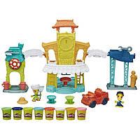 Play-Doh Игровой набор Город главная улица 3 в 1 Town 3-in-1 Town Center экоупаковка