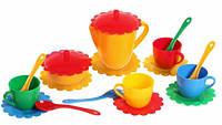 Ромашка, набор посуды 19 предметов, (желтый чайник). Тигрес (39091-1)
