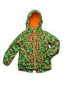Куртка-ветровка на флисе для мальчика Модный Карапуз 03-00693-0