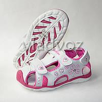 Босоножки сандалии для девочки на девочек белые Tom.m 30р.