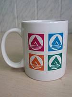 Чашка белая 310 мл с полноцветным изображением