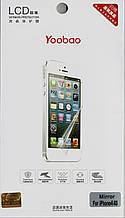IPhone 4/4S mirror, зеркальная + глянцевая пленка Yoobao