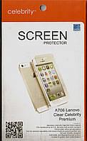 Lenovo A706 Premium, глянцевая защитная пленка на телефон