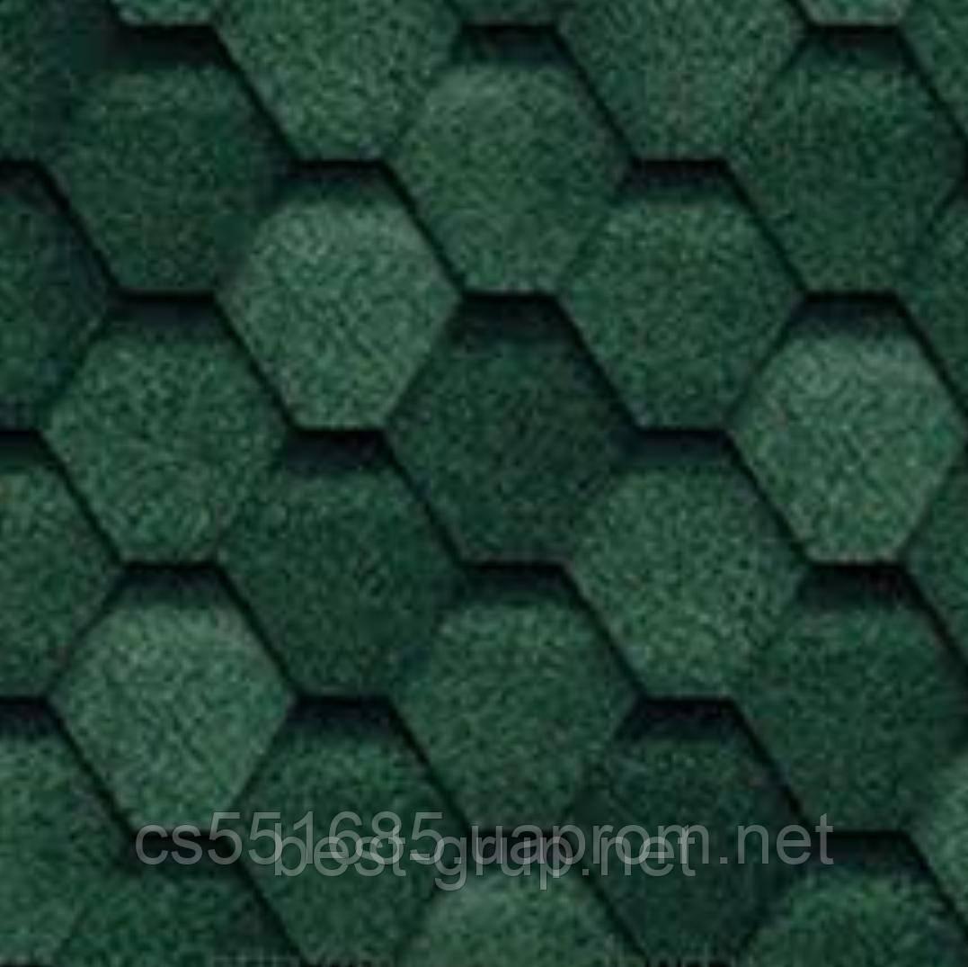 Зеленая. Коллекция Прима. Битумная черепица Tilercat