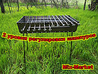 "Разборной мангал чемодан ""Вакула"" на 12 шампуров с шампурами"