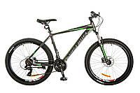 "Велосипед Optimabikes F-1 HDD 26"" (2017) / рама-17"" (серо-зеленый) OPS-OP-26-095"