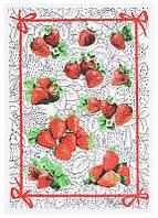 Кухонное полотенце Белорусский лен 16С153 клубника 45х60 см